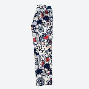 Express Columnist Geo Floral Print Ankle Pants